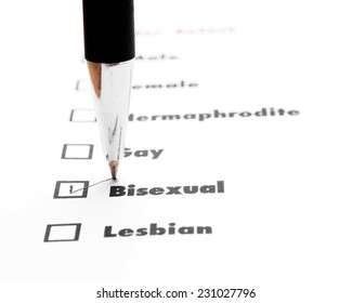 gender select choice,check bisexual, sex concept
