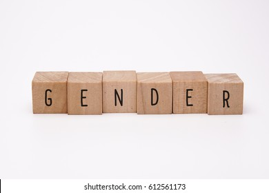 GENDER word made with building blocks