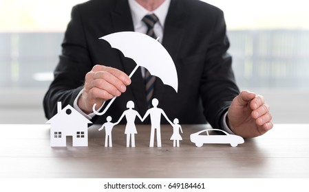 General agent protecting a house, a family and a car