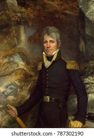 General Andrew Jackson in 1819 military portrait by John Wesley Jarvis. This portrait was painted in New York in 1819, when Jackson was celebrated as the hero of the War of 1812. Jackson commissioned