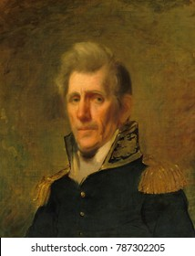 General Andrew Jackson in 1819 military portrait by Samuel Lovett Waldo. This portrait of Jackson in uniform was probably made during his 1819 visit to New York City