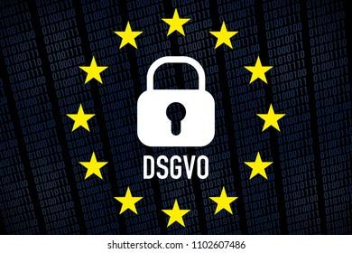 General Data Protection Regulation, GDPR - german text: DSGVO