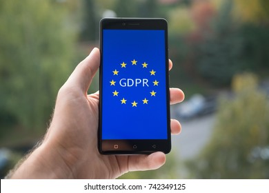 General Data Protection Regulation (GDPR)  on mobile phone