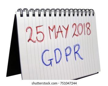 General Data Protection Regulation (GDPR) - 25 May 2018