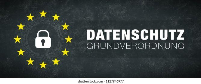 General Data Protection Regulation - german text: Datenschutzgrundverordnung
