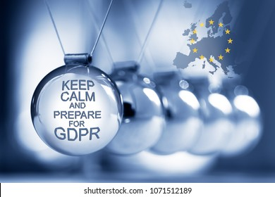 General Data Protection Regulation - Keep Calm and Prepare for GDPR - Newton's cradle