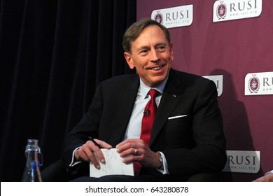 General David Petraeus, the former head of the US forces in Iraq and Afghanistan, speaking at defence think-tank RUSI, in London on 4 March 2016