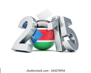 general elections in south sudan 2015 on a white background