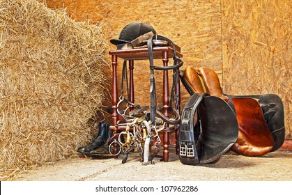 General equestrian equiptment usually found at any English barn/stable