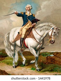 General George Washington - ''First in war, first in peace and first in the hearts of his coontrymen.'' A 1911 vintage illustration