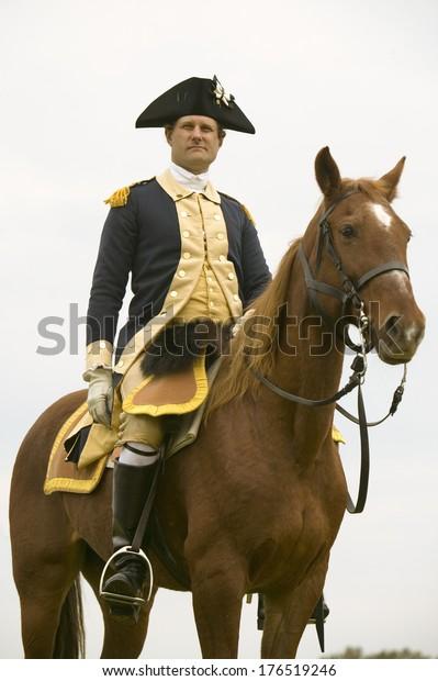 General George Washington Reviews Patriot Colonial Stock