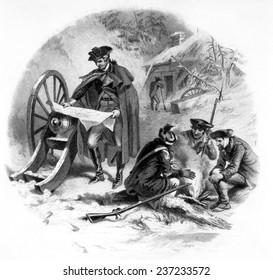 General George Washington at Valley Forge, Pennsylvania, 1777