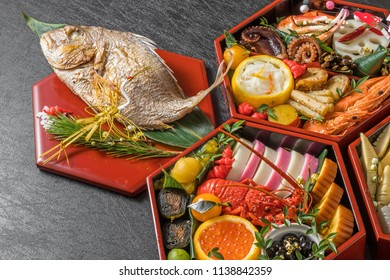 General Japanese New Year dishes(osechi)