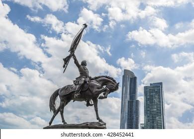 General John Logan Monument in Grant Park, Chicago, Illinois, USA