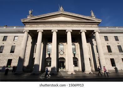 The general post office in Dublin, Ireland