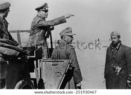 General Rommel standing in
