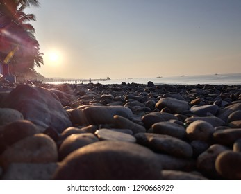 General Santos City, Mindanao/Philippines - 110718: Sunset at the Beach
