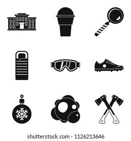 General secondary education icons set. Simple set of 9 general secondary education icons for web isolated on white background