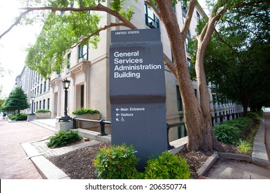 General Services Administration Building Sign