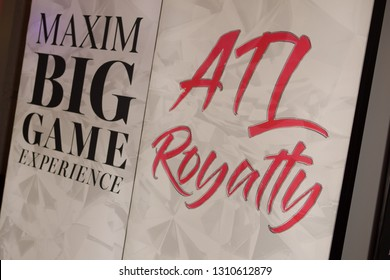 General Sign - attends the Maxim Big Game Experience at the Fairmont Atlanta on February 2nd, 2019 in Atlanta Georgia USA