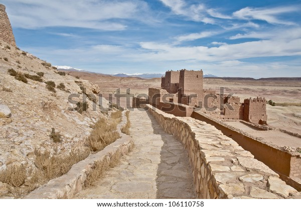 General view of ancient Ait Ben Haddou fortified village at Morocco
