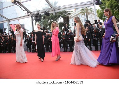 A general view of atmosphere the screening  of 'Sink Or Swim (Le Grand Bain)' during the 71st annual Cannes Film Festival at Palais des Festivals on May 13, 2018 in Cannes, France.