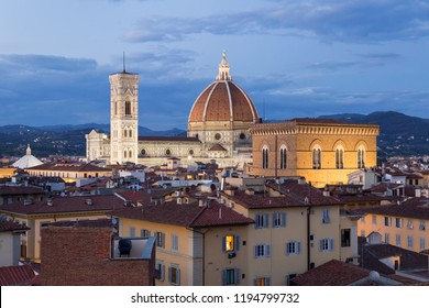 General view of Cathedral of Santa Maria del Fiore in Florence.