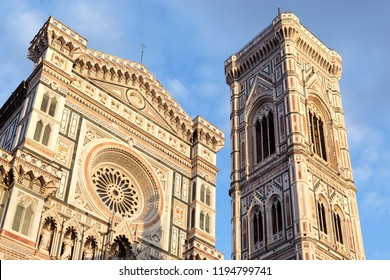 General view of Cathedral of Santa Maria del Fiore in Florence in the afternoon.