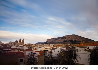 General view with church of The Encarnacion of Velez Rubio, Almeria Province, Andalucia, Spain, Western Europe.