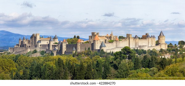General view of the city of Carcassonne - Aude - (France)