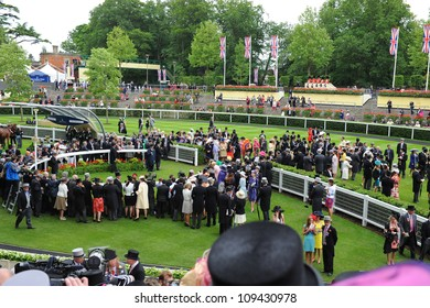 General view during the final day of the annual Royal Ascot horse racing event, Ascot, UK. June 23, 2012. Picture: Catchlight Media / Featureflash