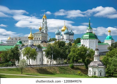 General view of the famous Holy Trinity-St. Sergius Lavra, Sergiev Posad, Russia