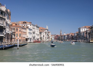 General view of the Granc Canal in Venice, Venezia, Italy