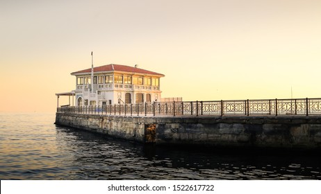 General view from Moda pier in istanbul.One of the symbols of Kadıköy, the historical Moda Pier built 100 years ago by architect - Shutterstock ID 1522617722