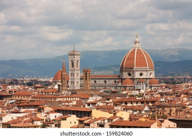 General view of old town in Florence.