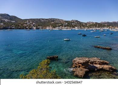 General view of port Andratx , Mallorca Spain