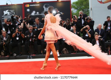 A general view of the red carpet ahead of the 'Suspiria' screening during the 75th Venice Film Festival at Sala Grande on September 1, 2018 in Venice, Italy.