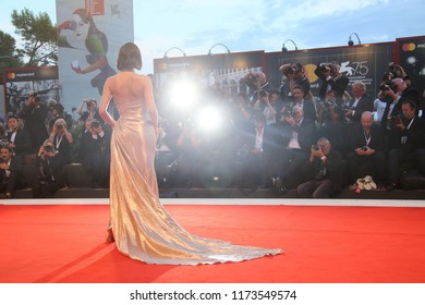 A general view of the red carpet ahead of the  'The Sisters Brothers' screening during the 75th Venice Film Festival at Sala Grande on September 2, 2018 in Venice, Italy.