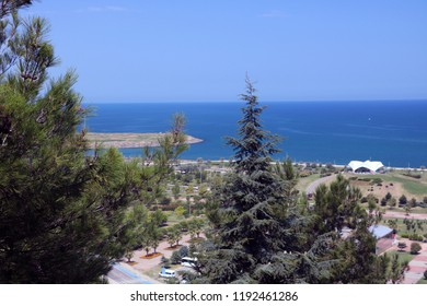 General view of the Samsun from Amisos Hill. Amisos Hill, Samsun, Turkey.