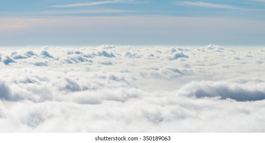 General view of a sea of clouds