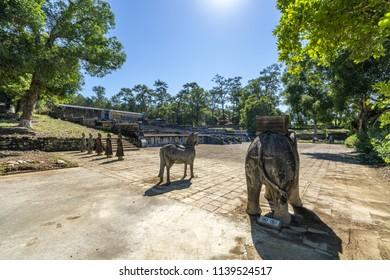 General view in Tomb of Gia Long emperor in Hue, Vietnam. A UNESCO World Heritage Site.