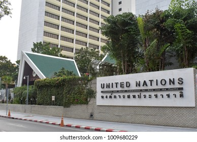 A general view of United Nations building in Bangkok on January 25, 2018.