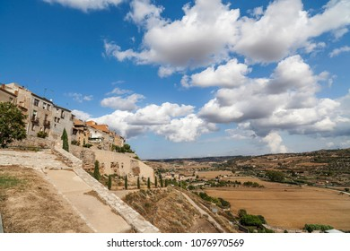 General village view of Cervera, province Lleida,Catalonia,Spain.
