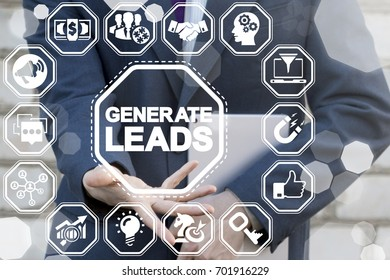 Generating leads using channels as: internet, information technology, networking, social media, influencer marketing. Concept of getting leads flow to grow business. Generate Leads Strategy.