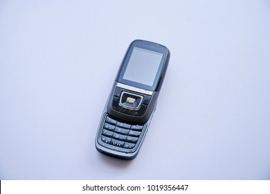 Generation of this Mobile phone, 2G.  on white background.