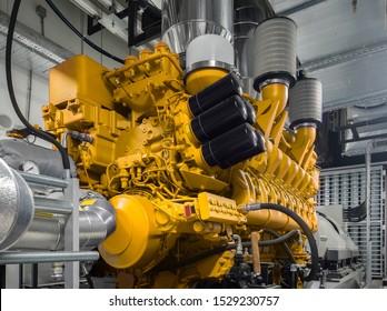 Generator. Diesel and gas industrial electric generator.