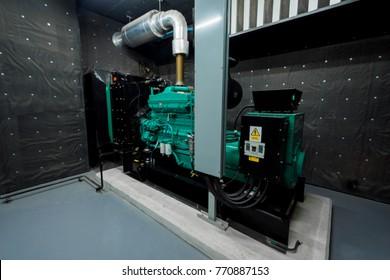 Notstromversorgung des Generatorraums Mit Dieselantrieb.