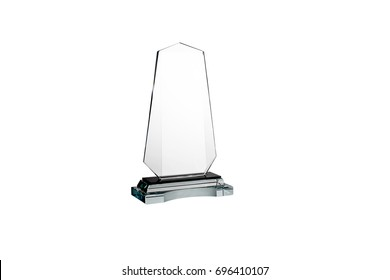 Generic award on a white background