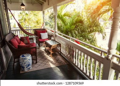 Generic balcony porch in a tropical location