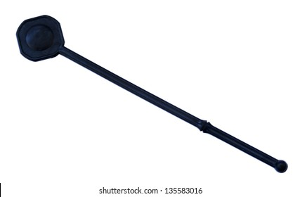 A generic black alcohol stirrer isolated on white background.
